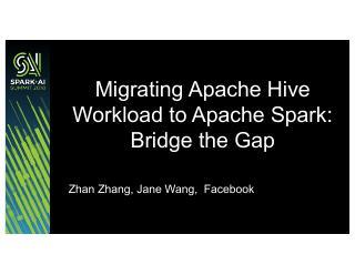 迁移Apache Hive作业到Apach...