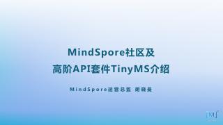 MindSpore社区及高阶API套件Ti...