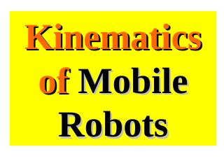 Mobile robots - minimal Kinematics