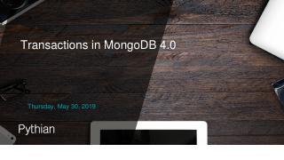 MongoDB 4.0事务终于完成了!