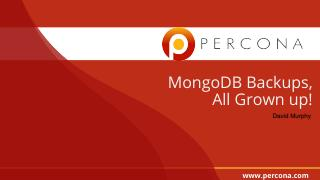 MongoDB Backups All Grown Up