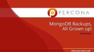MongoDB Backups All Grown Up