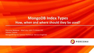 MongoDB Index Types How, when and where shoul...
