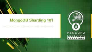 MongoDB Sharding 101
