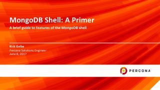 MongoDB Shell: A Primer