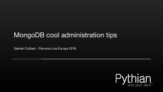 MongoDB cool administration tips