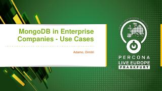 MongoDB in Enterprise Companies-Use Cases