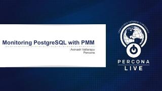使用Percona监控和管理(PMM)监控...