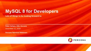 MySQL 8 For Developers