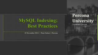 MySQL Indexing - Best Practices