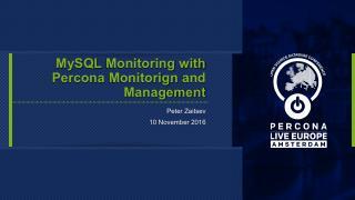 MySQL Monitoring With PMM