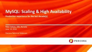 MySQL: Scaling and High Availability