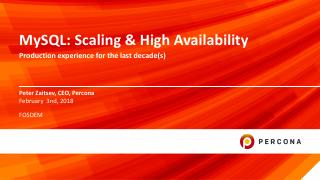 MySQL Scaling and High Availability