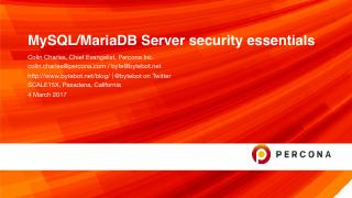 MySQL and MariaDB Server security essentials