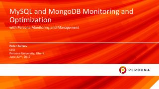 MySQL and MongoDB Monitoring with PMM