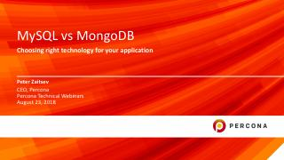 MySQL vs MongoDB Choosing right Technology fo...