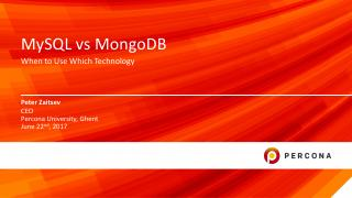 MySQL vs MongoDB when to use which Technology