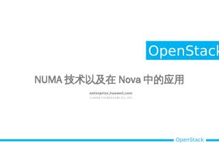 NUMA技术在Nova中的应用