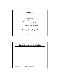 窄基线二极管和电荷控制模型