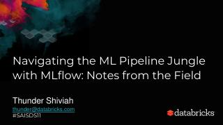 Navigating the ML Pipeline Jungle with MLflow