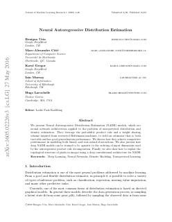 Neural Autoregressive Distribution Estimation