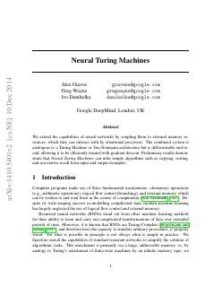 Neural Turing Machines