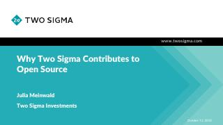 Why Two Sigma Contributes to Open Source
