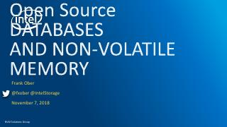 Open Source Databases and Non-Volatile Memory