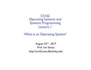 操作系统和系统编程简介