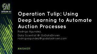 使用深度学习模型来自动拍卖过程