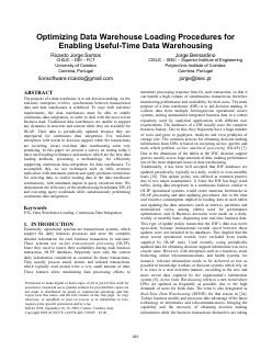 Optimizing Data Warehouse Loading Procedures for