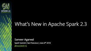 Apache Spark 2.3概述:有什...