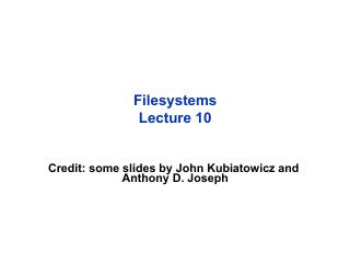 文件系统综述