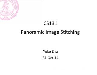 Panorama Stitching