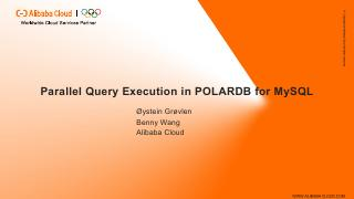 Parallel Query Execution in POLARDB for MySQL