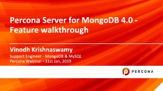 Percona Server for MongoDB 4.0 - Feature walk...