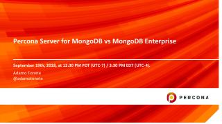 Percona Server for MongoDB vs MongoDB Enterprise
