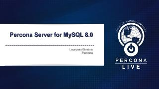 Percona Server for MySQL 8.0