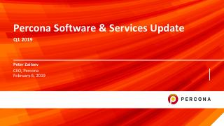 Percona Software and Services Update