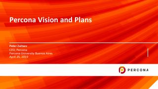 Percona Vision and Plans