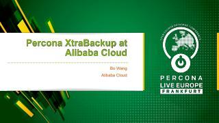 Percona XtraBackup at Alibaba Cloud