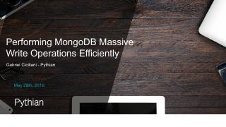 Performing MongoDB Massive Write Operations E...