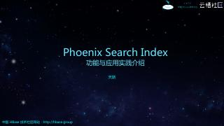 Phoenix Search Index ...