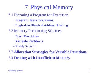 07-Physical Memory