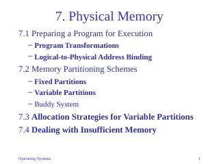 07-Physical Memory