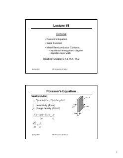 金属半导体接触,泊松方程,功函数,M-S能带图