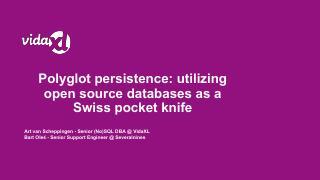 Polyglot persistence: utilizing open source d...