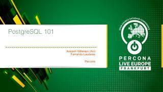 PostgreSQL 101
