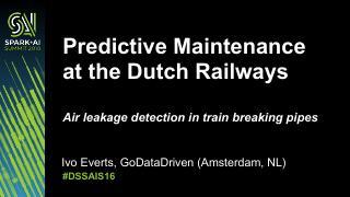荷兰铁路的维修预测