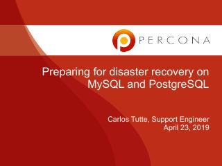 Preparing for disaster recovery on MySQL and ...